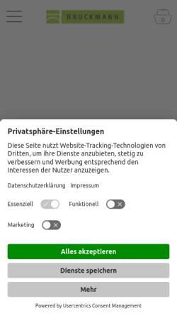 Vorschau der mobilen Webseite bruckmann.de, Bruckmann Verlag GmbH