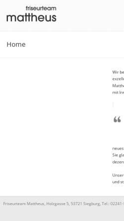 Vorschau der mobilen Webseite www.friseurteam-mattheus.de, Friseurteam Mattheus