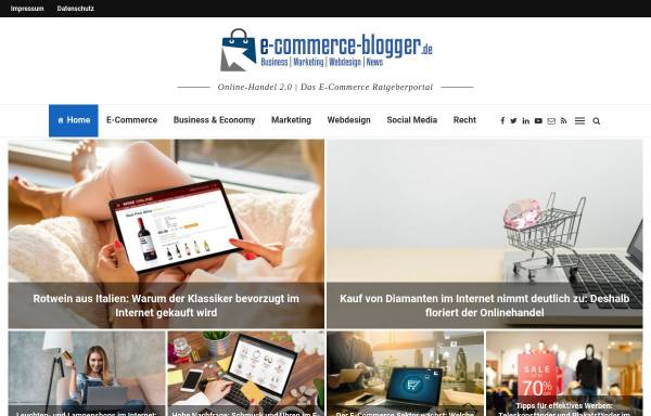 Vorschau von www.e-commerce-blogger.de, E-commerce-blogger