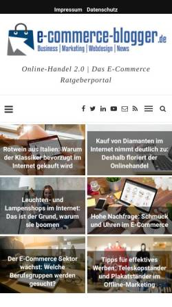 Vorschau der mobilen Webseite www.e-commerce-blogger.de, E-commerce-blogger
