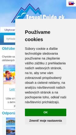 Vorschau der mobilen Webseite www.travelguide.sk, Travel-Guide