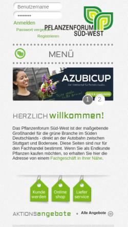 Vorschau der mobilen Webseite www.pflanzenforum.de, Pflanzenforum Süd-West