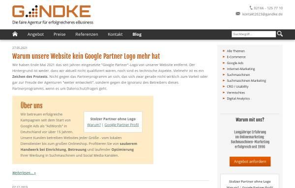 Vorschau von blog.gandke.de, Gandke Internet Marketing Blog