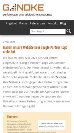 Vorschau der mobilen Webseite blog.gandke.de, Gandke Internet Marketing Blog