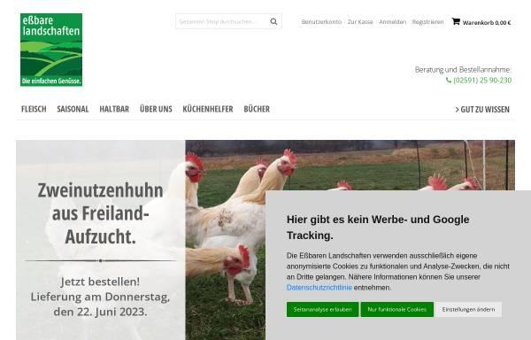 Vorschau von www.essbare-landschaften.de, Essbare Landschaften GmbH
