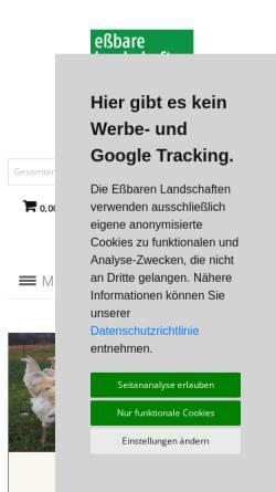 Vorschau der mobilen Webseite www.essbare-landschaften.de, Essbare Landschaften GmbH