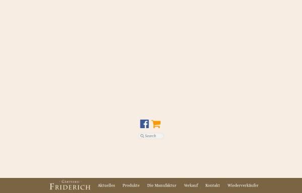 Vorschau von www.friderich.de, Gärtnerei Klaus Friderich