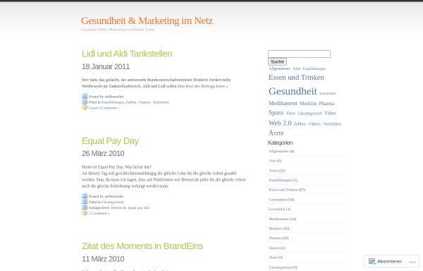 Vorschau von steffenzoller.wordpress.com, Gesundes Online-Marketing von Steffen Zoller.