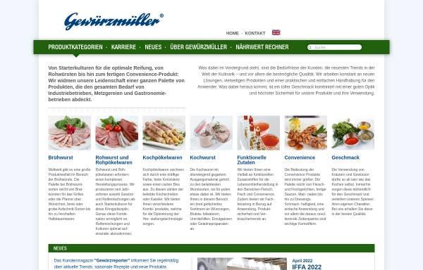 Vorschau von www.gewuerzmueller.com, Gewürzmüller GmbH