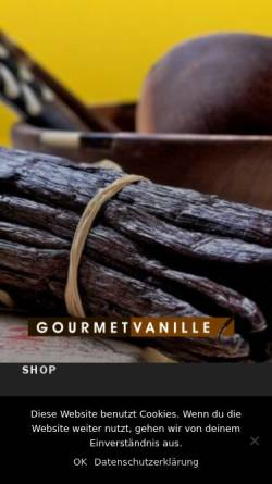 Vorschau der mobilen Webseite www.gourmet-vanille.de, Gourmet-Vanille, Sebastian Schipulle