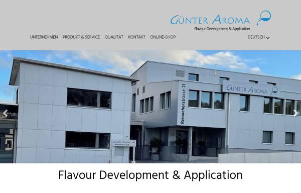 Vorschau von www.aromen.ch, Günter Aroma GmbH