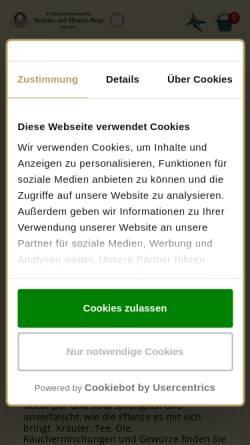 Vorschau der mobilen Webseite www.phytofit.de, Der Kräuterhof GmbH