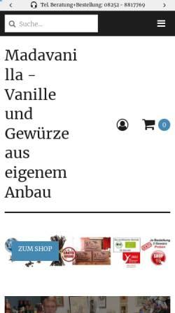 Vorschau der mobilen Webseite madavanilla.de, Madavanilla, Christian Terno