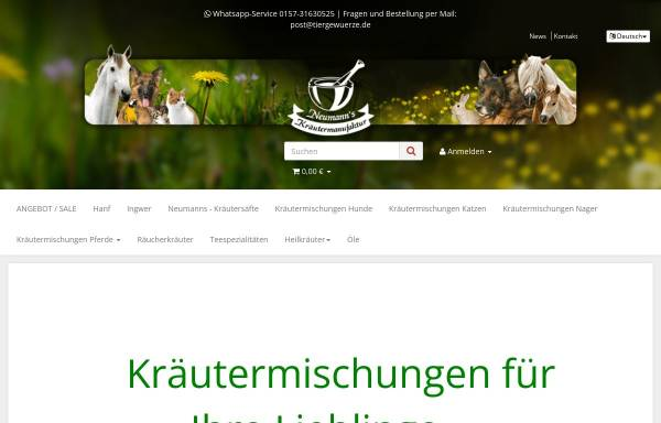 Vorschau von www.anis-bis-zimt.de, Neumann-Gewürze e.K.