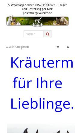 Vorschau der mobilen Webseite www.anis-bis-zimt.de, Neumann-Gewürze e.K.