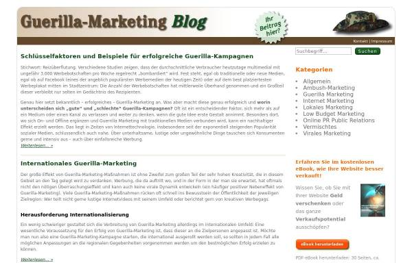 Vorschau von www.guerilla-marketing-blog.de, Guerilla Marketing Blog