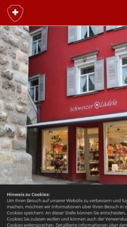 Vorschau der mobilen Webseite schweizer-laedele.de, Schweizer Lädele, Sabine Irion