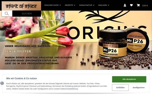 Vorschau von www.spirit-of-spice.de, Spirit of Spice GmbH