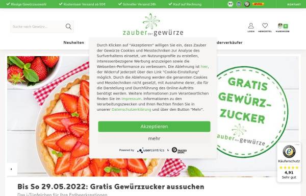 Vorschau von www.zauberdergewuerze.de, Zauber der Gewürze GmbH