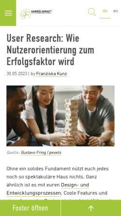 Vorschau der mobilen Webseite www.handelskraft.de, Handelskraft