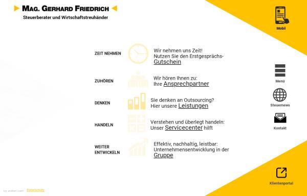 Vorschau von www.kanzlei-friedrich.at, Steuerberater Kanzlei Friedrich