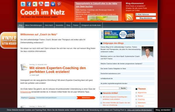 Vorschau von www.coach-im-netz.de, Internetmarketing für Coaches, Trainer und Berater