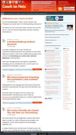 Vorschau der mobilen Webseite www.coach-im-netz.de, Internetmarketing für Coaches, Trainer und Berater