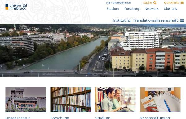 Vorschau von www2.uibk.ac.at, Institut für Translationswissenschaft der Universität Innsbruck