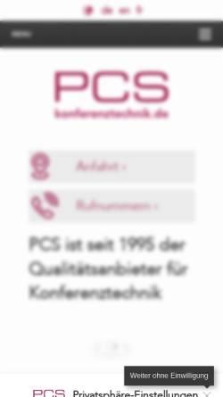 Vorschau der mobilen Webseite www.konferenztechnik.de, Plattform der Konferenztechnik
