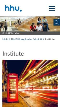 Vorschau der mobilen Webseite www.phil-fak.uni-duesseldorf.de, Studiengang Literaturübersetzen, Heinrich-Heine-Universität Düsseldorf