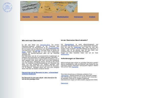 Vorschau von www.uebersetzer-studium.de, Übersetzer-Studium