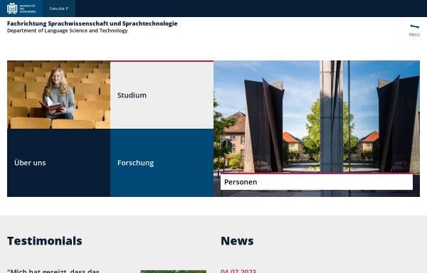 Vorschau von fr46.uni-saarland.de, Universität Saarland