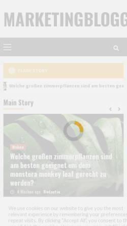 Vorschau der mobilen Webseite www.marketingblogger.de, Marketingblogger