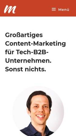 Vorschau der mobilen Webseite www.marktschreyer.de, Marktschreyer
