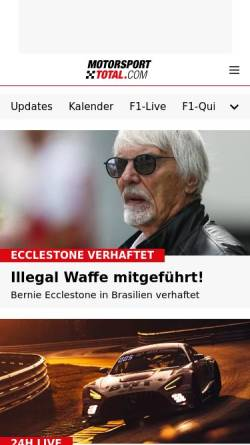 Vorschau der mobilen Webseite www.motorsport-total.com, Motorsport Total