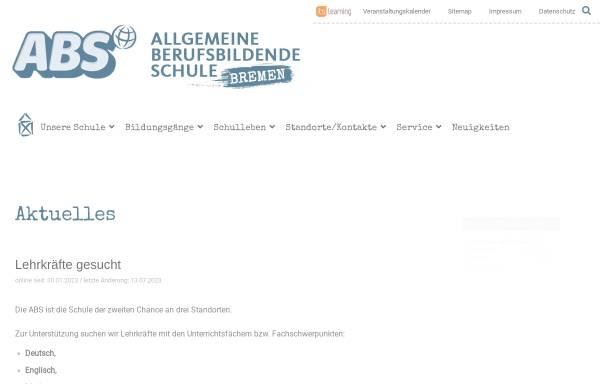 Vorschau von www.abs-bremen.de, Allgemeine Berufsschule in Bremen