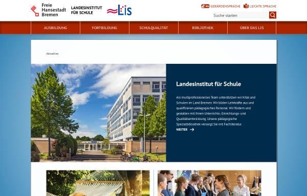Vorschau von www.lis.bremen.de, Landesinstitut für Schule - Bremen
