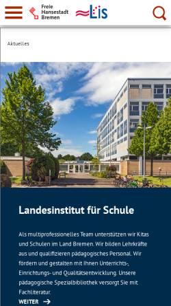 Vorschau der mobilen Webseite www.lis.bremen.de, Landesinstitut für Schule - Bremen