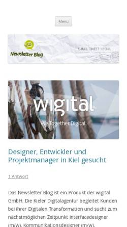 Vorschau der mobilen Webseite www.newsletter-blog.de, Newsletter Blog
