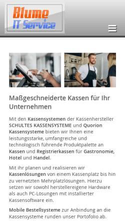 Vorschau der mobilen Webseite www.blume-it.de, Blume IT Service