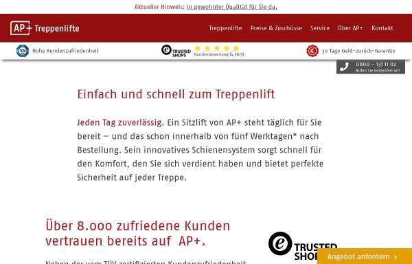 Vorschau von www.treppenlift-discount.de, a & p Treppenlifte GmbH