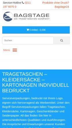 Vorschau der mobilen Webseite www.bag-stage.de, Bag-Stage - Philipp Zimmermann