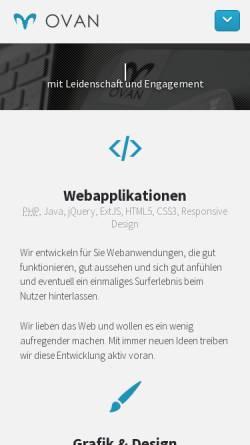 Vorschau der mobilen Webseite ovan.de, Online-Marketing Blog von OVAN Berlin