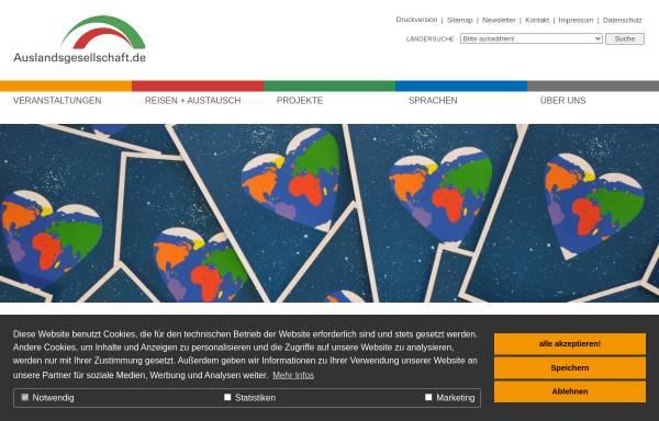 Vorschau von www.auslandsgesellschaft.de, Auslandsgesellschaft Nordrhein-Westfalen e.V.