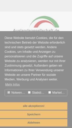 Vorschau der mobilen Webseite www.auslandsgesellschaft.de, Auslandsgesellschaft Nordrhein-Westfalen e.V.