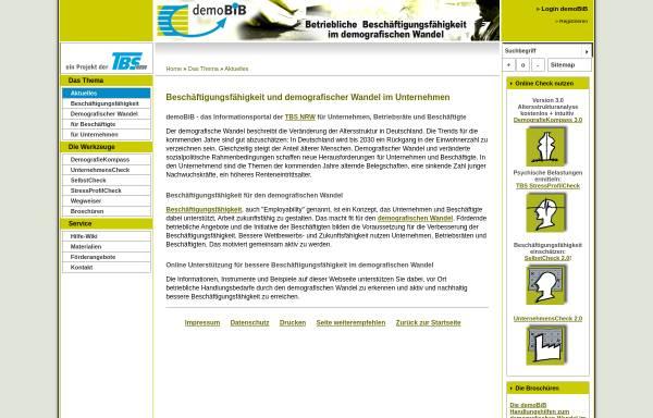 Vorschau von demobib.de, demoBiB - Beschäftigungsfähigkeit im demografischen Wandel