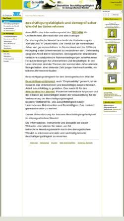 Vorschau der mobilen Webseite demobib.de, demoBiB - Beschäftigungsfähigkeit im demografischen Wandel