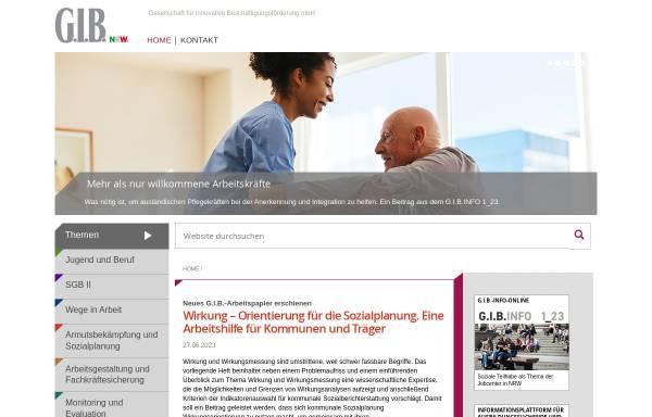 Vorschau von www.gib.nrw.de, G.I.B. NRW - Gesellschaft für innovative Beschäftigungsförderung mbH