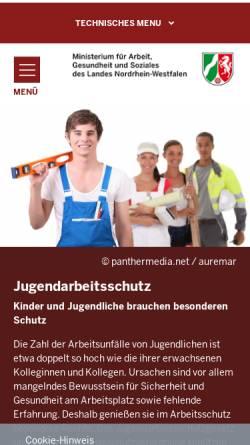 Vorschau der mobilen Webseite www.take-care.nrw.de, Take Care