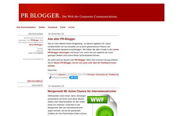 Vorschau von klauseck.typepad.com, PR Blogger